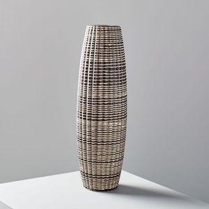 West Elm Carved Ceramic Vase